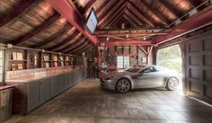 Show Off Your Ride In These Awesome Garage Man Caves (32 Photos)