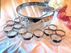 Dorothy Thorpe Punch Set Roly Poly Glasses Mid by ArtivaEclectica