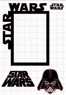 Lu Scrap and Crafts: Freebie - Stars Wars frame and Darth Vader Head - free Silhouette .studio Cut File!