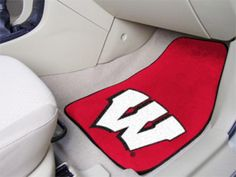 NCAA University of Wisconsin 5492 Car Mats 2 Piece Front by Fan . Buy now @ReadyGolf.com