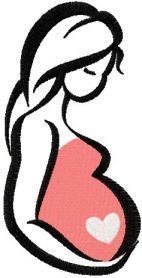 Pregnant mother free embroidery design. Machine embroidery design. www.embroideres.com