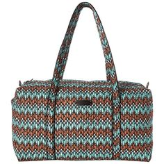 Vera Bradley Large Duffel (Sierra Stream) Duffel Bags (51 CAD) ❤ liked on Polyvore featuring bags, luggage and multi