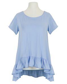 Damen Shirt A-Linie, blau von Monday Afternoon | meinkleidchen Damenmode aus Italien Shirts & Tops, Tunic Tops, Women, Fashion, Simple Lines, Italy, Fashion Women, Blue, Cotton