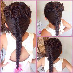 Flowers hair style for little girls