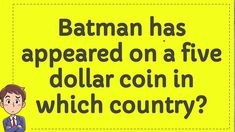 Batman has appeared on a five dollar coin in which country? Trivia Of The Day, Dollar Coin, Coins, Batman, Country, Rooms, Rural Area, Country Music