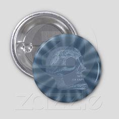 the Skull - Rays Blue from Zazzle.com