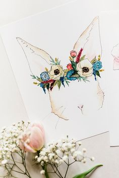 "Decorate your space with Ginably's watercolor illustration prints. - Printed on 100% white cotton rag - Available in sizes 8""x10"" and 11""x14"" - Shipped flat in a rigid mailer with a cellophane protect"