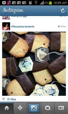 Tea party idea: tea bag cookies