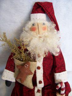Primitive Santa doll PATTERN 18 inch by Dumplinragamuffin on Etsy, $9.50