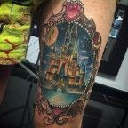 Disney Castle Tattoo by Isobel Juliet Stevenson