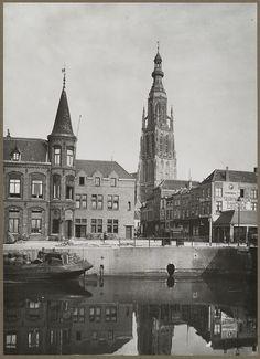 Breda.  Haven  1910-1935 Big Ben, Barcelona Cathedral, Holland, The Neighbourhood, Architecture, Building, Travel, Historia, Nostalgia