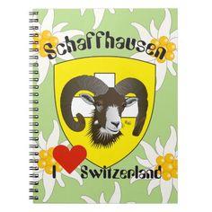 Schaffhausen - Schweiz - Suisse - Notizhefte Spiral Notizbücher
