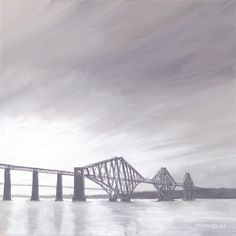 Still water at sunset, South Queensferry Bridge, Sunset, Water, Travel, Paintings, Gripe Water, Voyage, Paint, Viajes