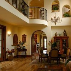 Spanish style home- warm colors and dramatic touches.