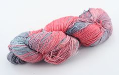 Vintage Embers: Pink to Gray Silk Cloud Yarn from DGY. Anamika Silk Yarn (It's from silk waste! and fairly traded)