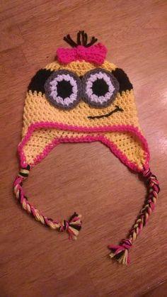 Minion Crochet Hat Despicable Me All Sizes Handmade Girl Boy | eBay