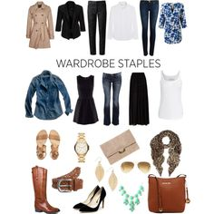 Wardrobe Staples by quesarasara on Polyvore