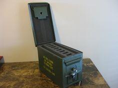 AMMO CAN HANDGUN CASE, VERY COOL, DOUBLE GUN, .50 AMMO BOX, .50 CAL, NATURAL MIL SPEC PAINT - The Can Man - Custom Gun Cases