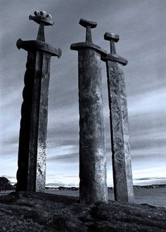 Jæren, Norway While this stands as a reminder of the greatness que the Norse brought` to Europe, Also let it stand as a symbol que all weapons are best buried in the soil, never to be used again!