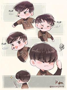 Pls no spock Kpop Exo, Exo Sing For You, 5 Years With Exo, Cute Bunny Pictures, Exo Anime, Exo Fan Art, Xiuchen, Exo Memes, Korean Art