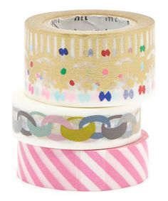 Look at this Three-Piece Princess Party Washi Tape Set on #zulily today!
