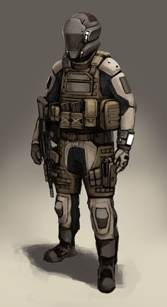 Futuristic soldier concept by FonteArt on deviantART