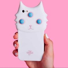 Alien Cat Phone Case Brand new never before used alien cat phone case for the iPhone 6&6s. Super cool and unique. Three eye. Valfre. Flexible soft case. 666. White cat. Blue eyes. NO TRADES. DON'T LOWBALL. NOT PURCHASED THROUGH VALFRE Brandy Melville Accessories Phone Cases