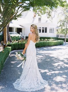 Strapless lace wedding gown: Photography: Jessica Burke - jessicaburke.com   Read More on SMP: http://www.stylemepretty.com/2016/12/28/this-is-why-getting-married-in-napa-is-wedding-goals-to-the-max/