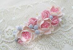 Handmade Hair & Head Jewelry Fashion Jewelry Handcrafted Fashion Polymer Clay Fimo Pretty Flower Hair Comb
