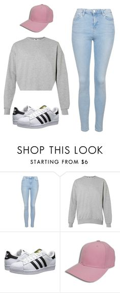 """School Outfit #5"" by annajtat ❤ liked on Polyvore featuring Topshop and adidas Originals"