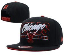 e65f4c0f949ed Casquette NBA Chicago Bulls Snapback Noir Casquette New Era Pas Cher  Snapback Caps, New Era