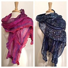 New felted summer scarves from HeartFelt Silks