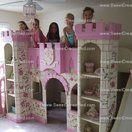 Girls Princess Castle Bed with Slide by Sweet Dream Beds & Custom Furniture