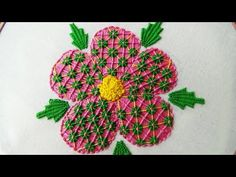 Hand Embroidery: Fantasy Flower Stitch - YouTube