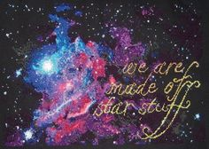 Carl Sagan Cosmos cross stitch PATTERN -- We are made of star stuff, immediate download