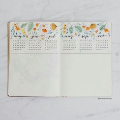 New journal means new Future Logs! I love how this one turned out. : bulletjourn… New journal means new Future Logs! I love how this one turned out.