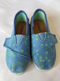 d061465858c1 Girls Size 7 XO L V Shoes blue w green stars  fashion
