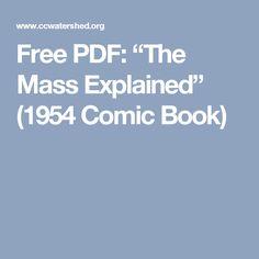 "Free PDF: ""The Mass Explained"" (1954 Comic Book)"