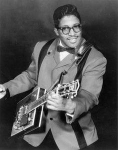 † Bo Diddley (Elias Otha Bates) (December 30, 1928 - June 2, 2008) American singer, guitarist and composer.