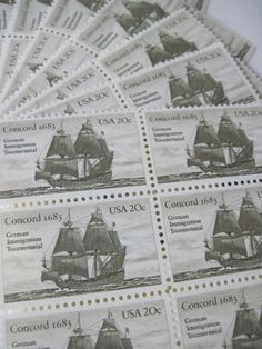 Out To Sea... Unused Vintage Postage Stamps ... by LoveThePostage, $13.00