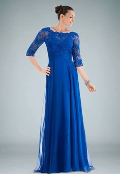 Royal Chiffon A-line Evening Dress Holding Beaded Lace Cover