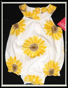 Carters Baby Girl Romper Sunflower   Mila has this