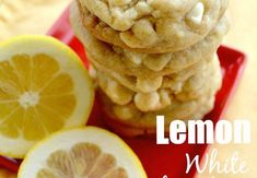 Lemon White Chocolate Chip Cookies - Gonna Want Seconds Cookie Desserts, Just Desserts, Cookie Recipes, Delicious Desserts, Dessert Recipes, Yummy Food, Cookie Table, Bolacha Cookies, Galletas Cookies