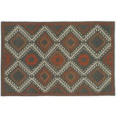 Crate & Barrel Bessie Wool 5'x8' Rug (530 CAD) ❤ liked on Polyvore featuring home, rugs, handwoven rug, wool area rugs, wool rugs, flat-weave rug and flat weave wool rug