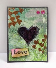 Have a heart...... mixed media ATC