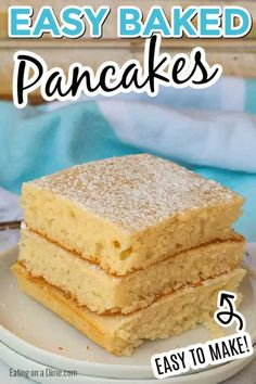 Try this easy baked pancakes recipe for a quick and delicious breakfast. Everyone loves this easy oven baked pancakes recipe that you can make in minutes. Oven Baked Pancakes, Pancakes Easy, Making Pancakes, Waffles, Breakfast Dishes, Breakfast Recipes, Brunch Recipes, Breakfast Ideas, Breakfast Club