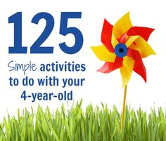125 SIMPLE Activities to do with your 4-year-old. This is such an awesome database of free kids activities! #activities #kids #educational
