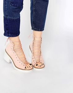 Image 1 ofASOS RACER Lace Up Boots