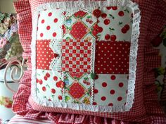 Sweet Cottage Dreams: Handmade pillow - Look at all the details!