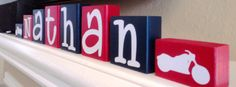 CUSTOM PERSONALIZED BLOCKS Wooden Letters by kr112234 on Etsy